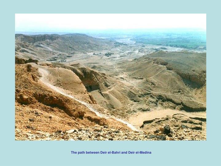 The path between Deir el-Bahri and Deir el-Medina