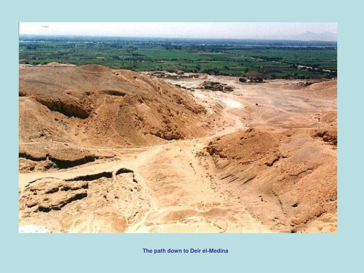 The path down to Deir el-Medina