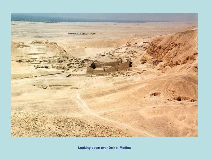 Looking down over Deir el-Medina
