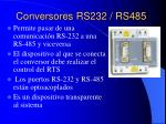 conversores rs232 rs485