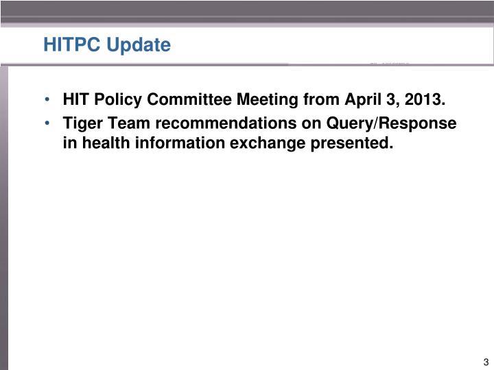 HITPC Update