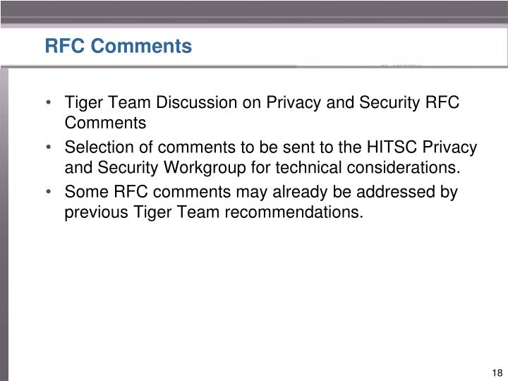 RFC Comments