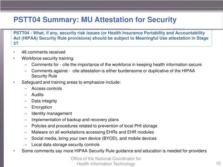 PSTT04 Summary: MU