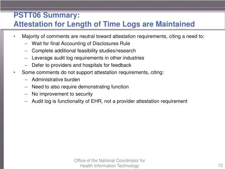 PSTT06 Summary: