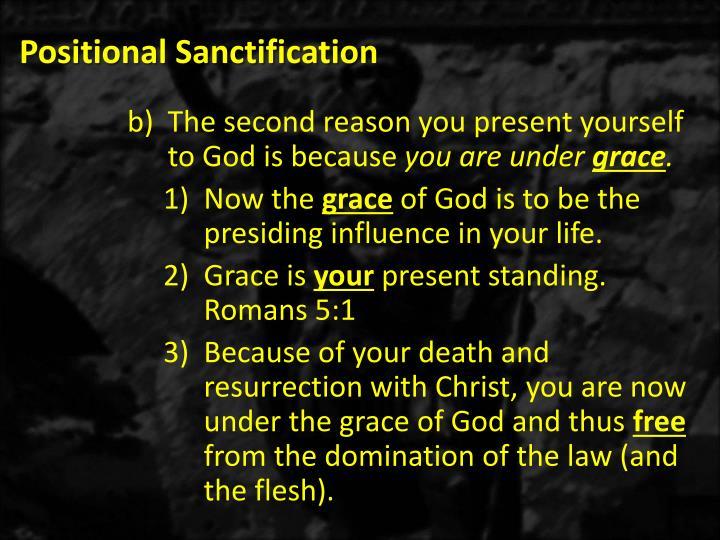 Positional Sanctification