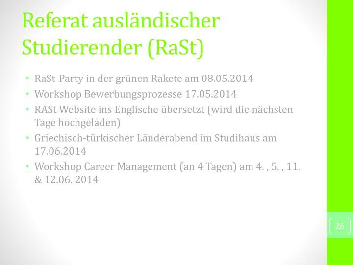 Referat ausländischer Studierender (