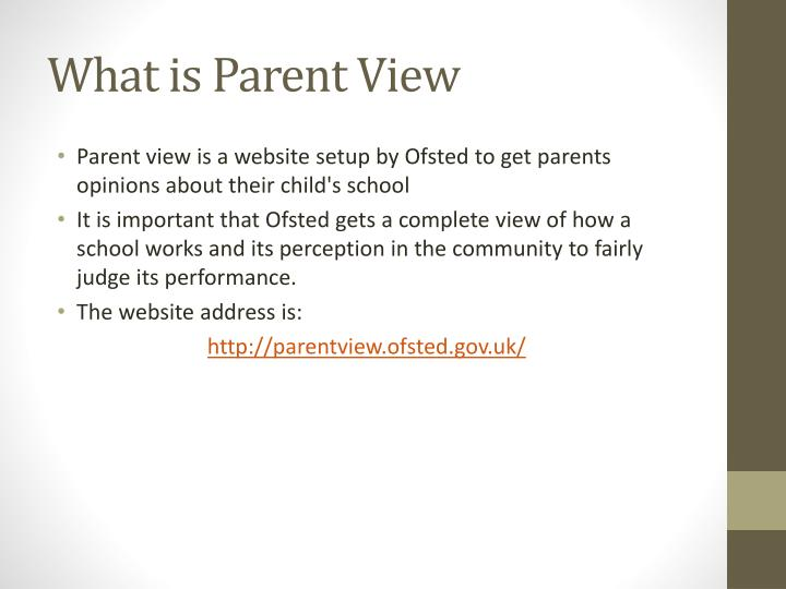 What is Parent View