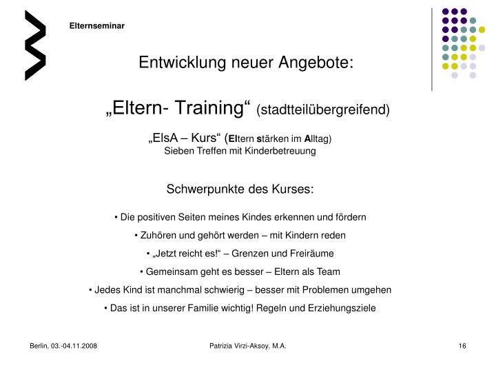"""Eltern- Training"""