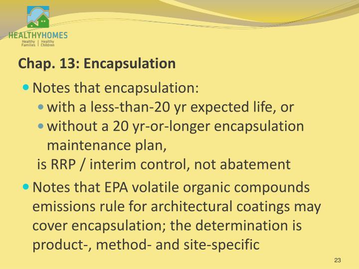 Chap. 13: Encapsulation
