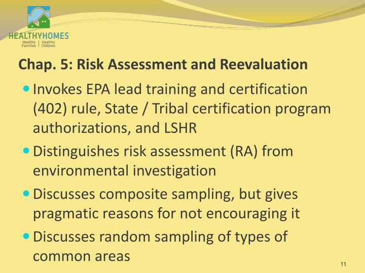 Chap. 5: Risk Assessment and Reevaluation