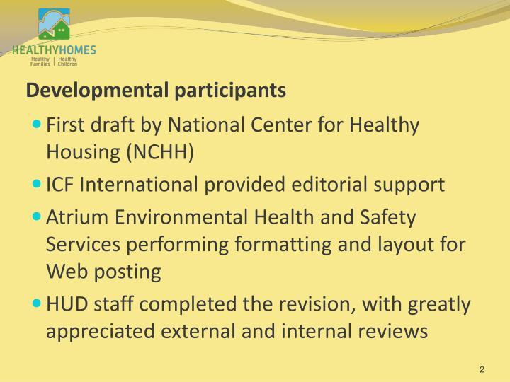 Developmental participants