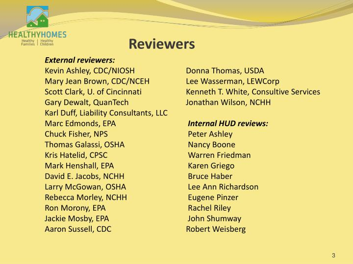 Reviewers