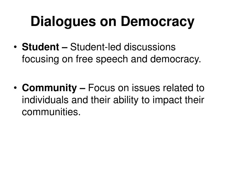 Dialogues on Democracy