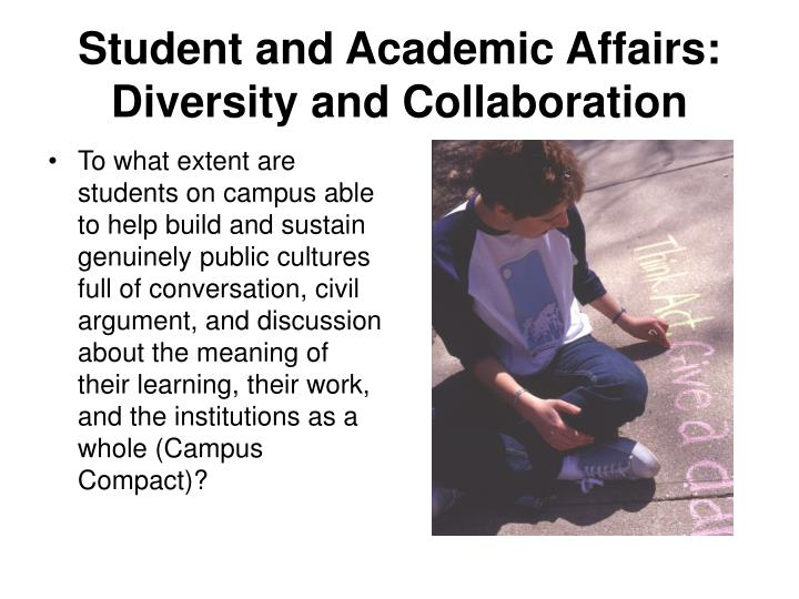 Student and Academic Affairs: Diversity and Collaboration