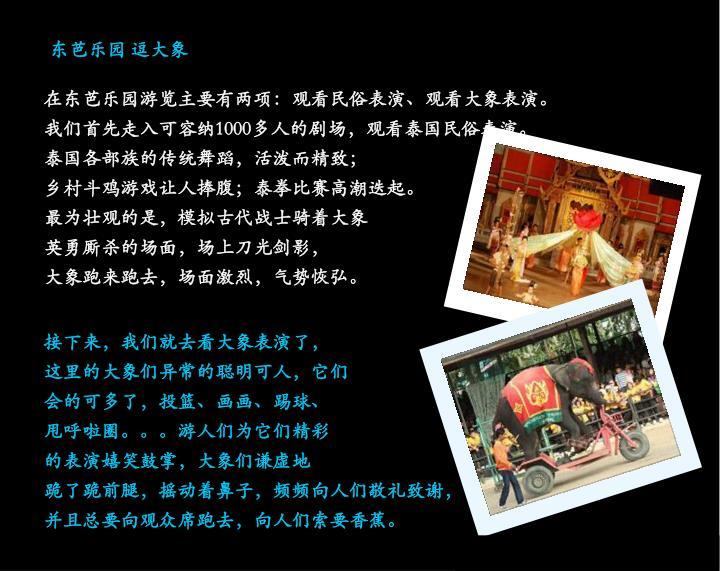 东芭乐园 逗大象