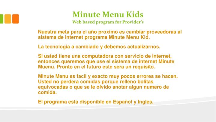 Minute Menu Kids