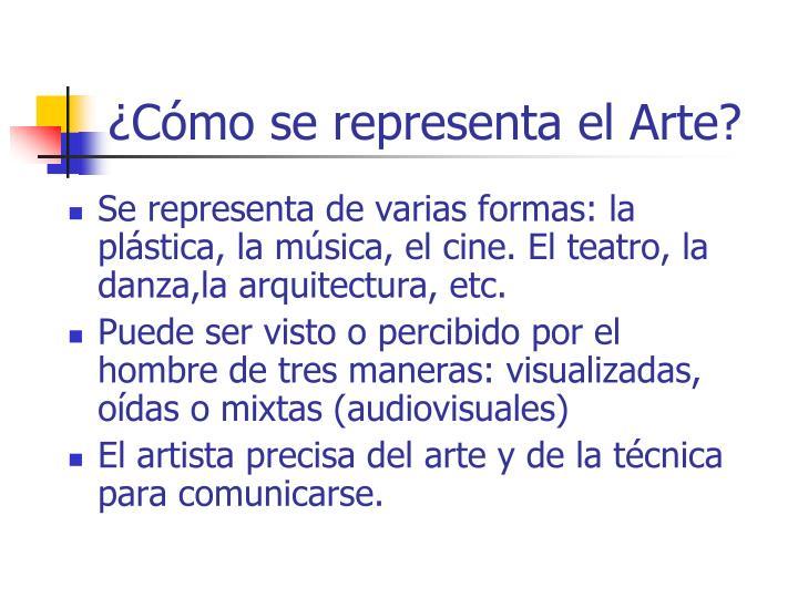 ¿Cómo se representa el Arte?