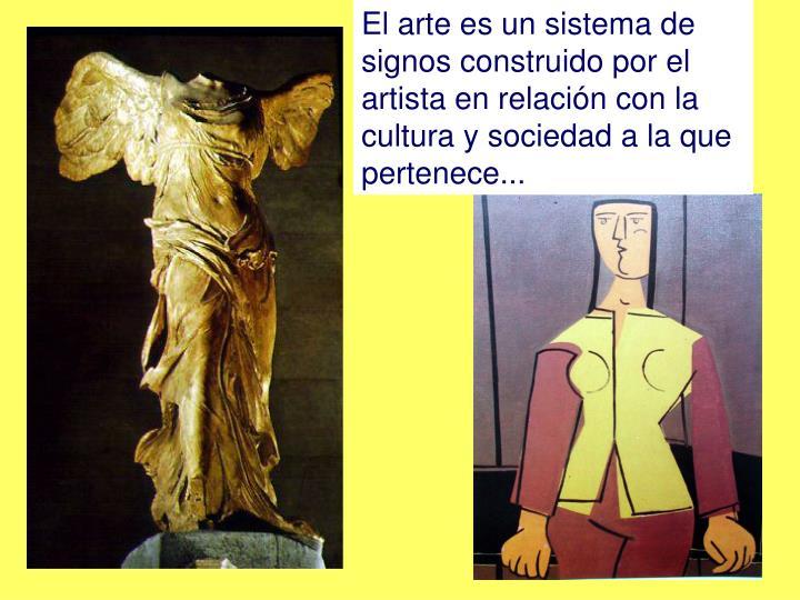 El arte es un sistema de signos construido por el artista