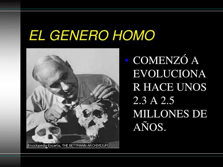 EL GENERO HOMO