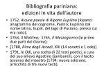 bibliografia pariniana edizioni in vita dell autore