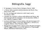 bibliografia saggi