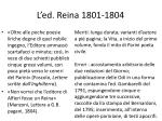 l ed reina 1801 1804