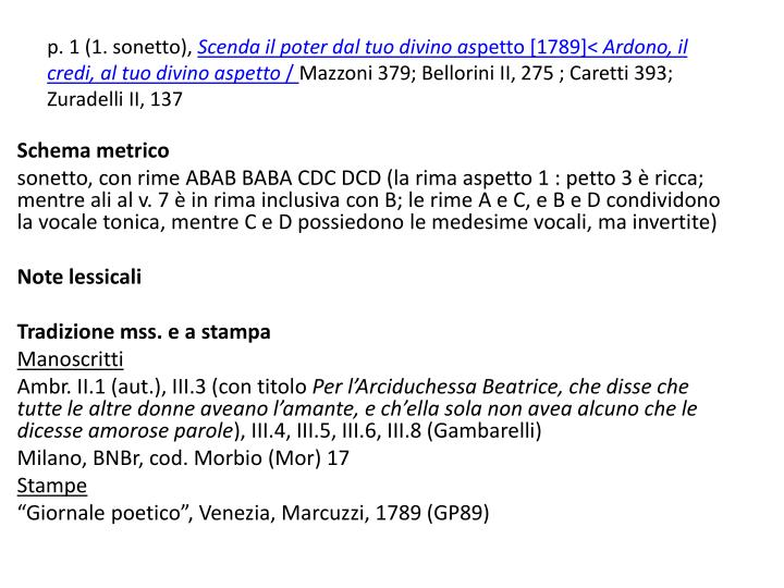 p. 1 (1. sonetto),