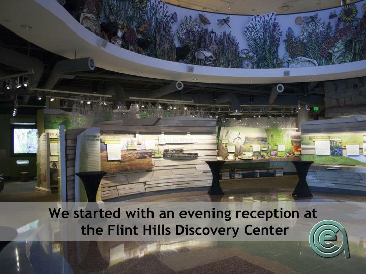 We started with an evening reception at