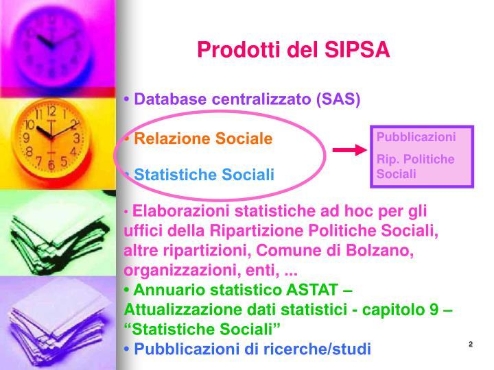 Prodotti del SIPSA