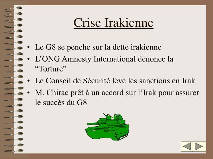 Crise Irakienne