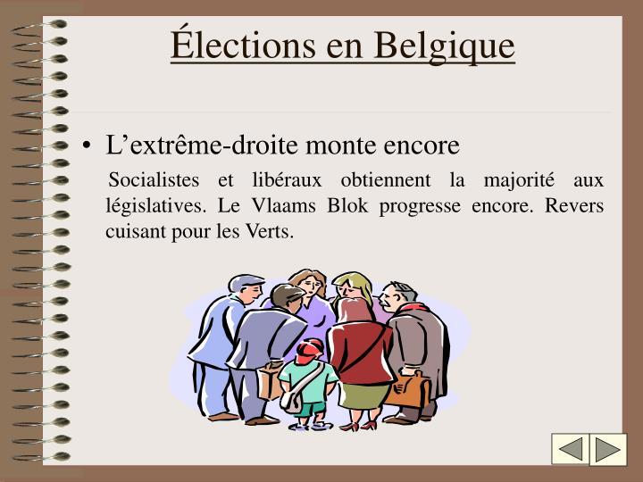 Élections en Belgique