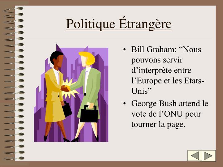Politique Étrangère