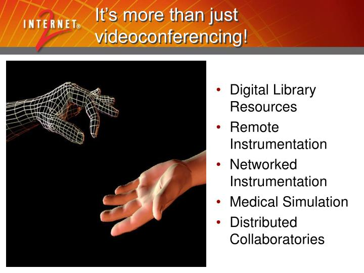 It's more than just videoconferencing!