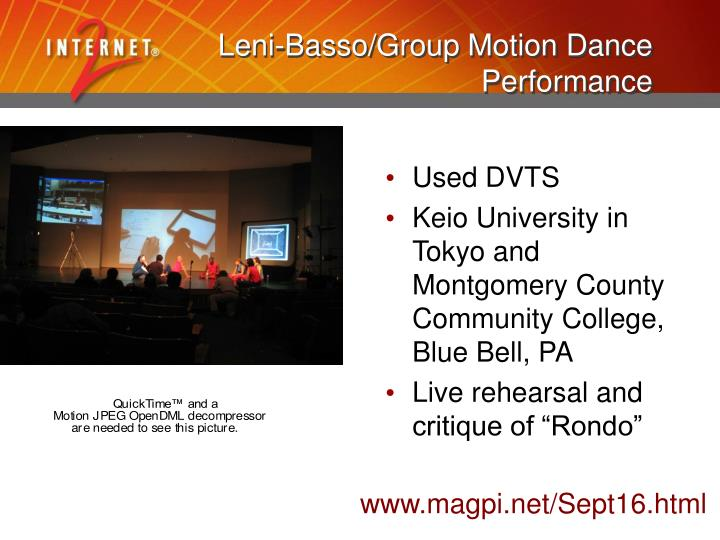 Leni-Basso/Group Motion Dance Performance