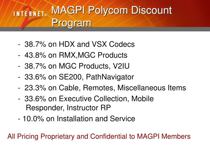 MAGPI Polycom Discount Program