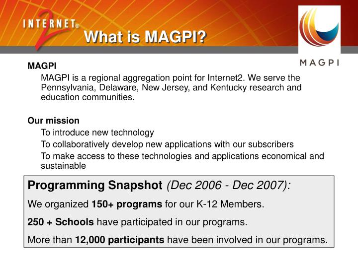 What is MAGPI?