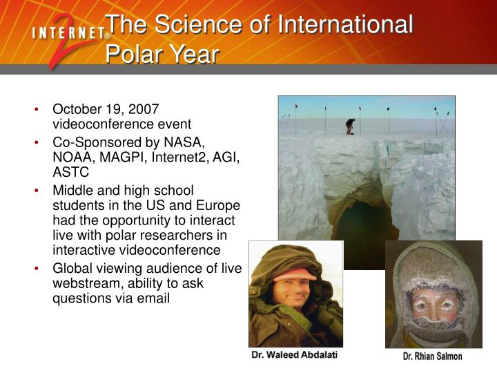 The Science of International Polar Year