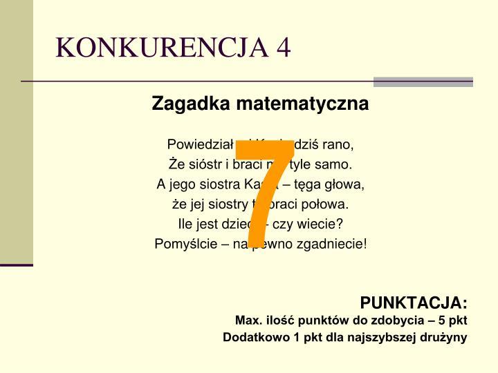KONKURENCJA 4