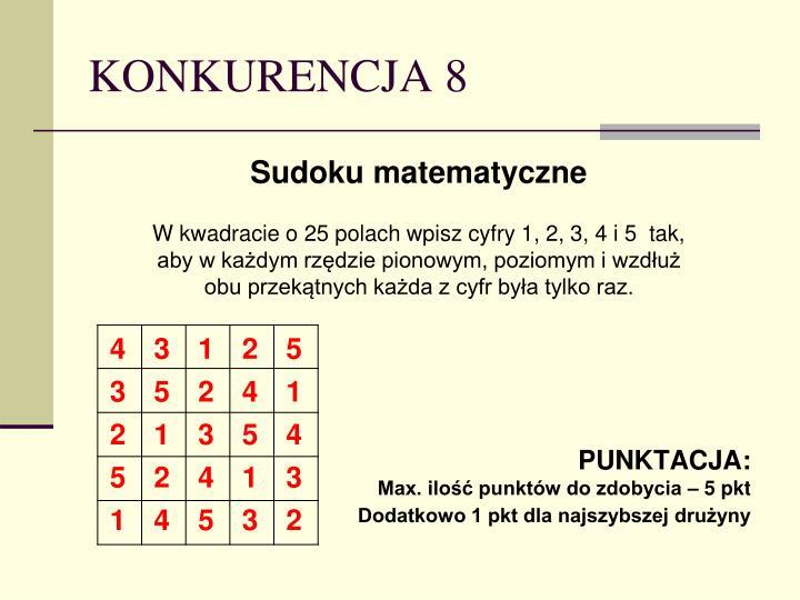 KONKURENCJA 8