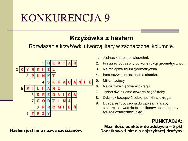 KONKURENCJA 9