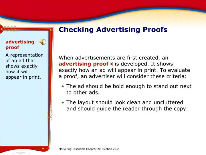 advertising proof