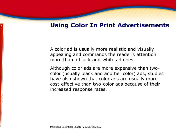 Using Color In Print Advertisements