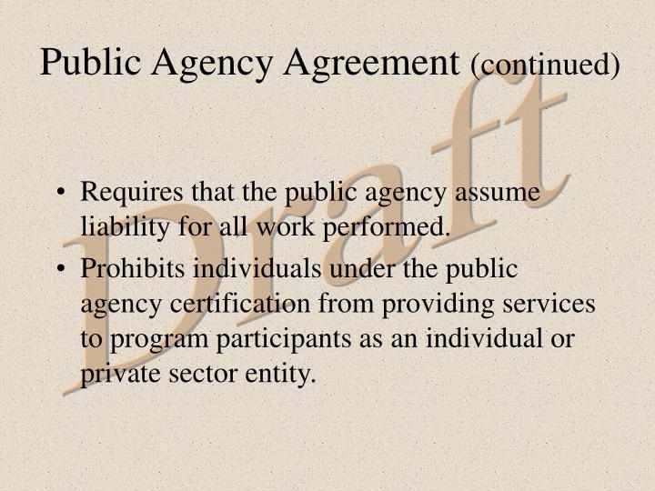 Public Agency Agreement