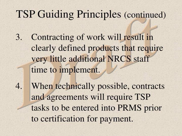 TSP Guiding Principles