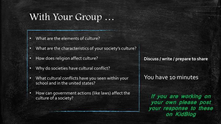 With Your Group …