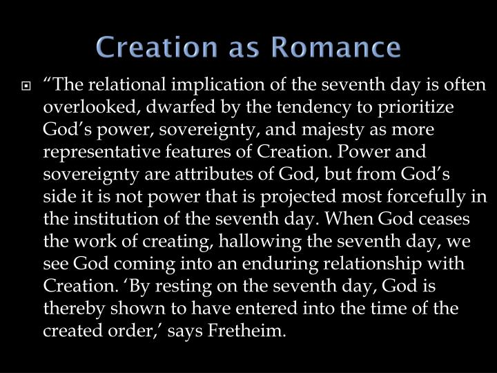Creation as Romance