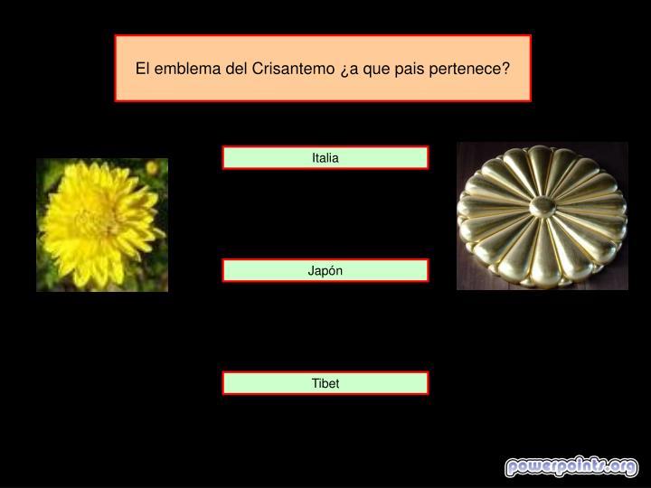 El emblema del Crisantemo ¿a que pais pertenece?