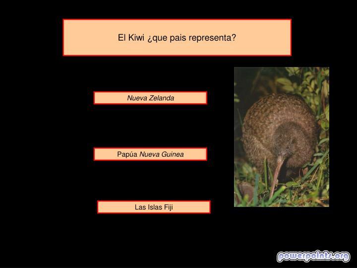 El Kiwi ¿que pais representa?