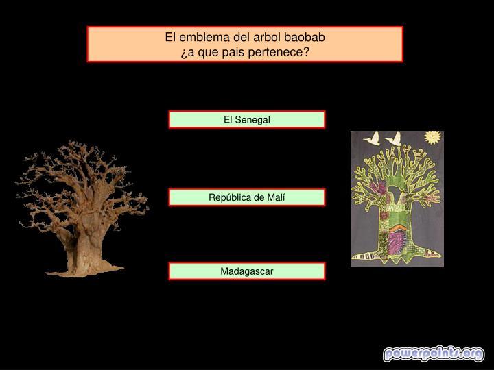 El emblema del arbol baobab