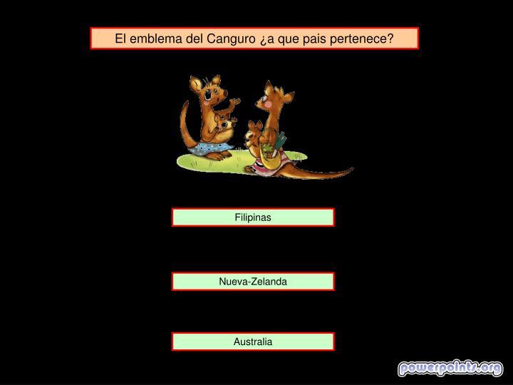 El emblema del Canguro ¿a que pais pertenece?
